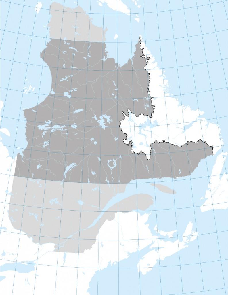 Carte Québec 50e parallele